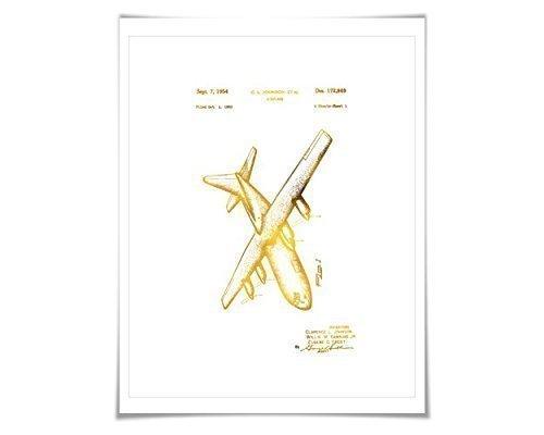 - Lockheed C-130 Hercules Airplane Patent Gold Foil Art Print. 7 Foil Colours. Aviation Poster.