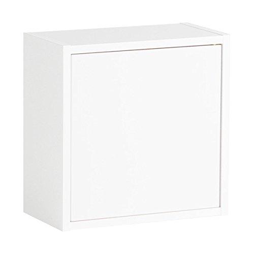 arne ウォールシェルフ 木製 石膏ボード ウォールボックス 棚 奥行き14cm 耐荷重15kg Wall Box Seven DX E 単品S ホワイトウッド B072M57LDG 長方形(扉付き薄型)Sサイズ|ホワイトウッド ホワイトウッド 長方形(扉付き薄型)Sサイズ