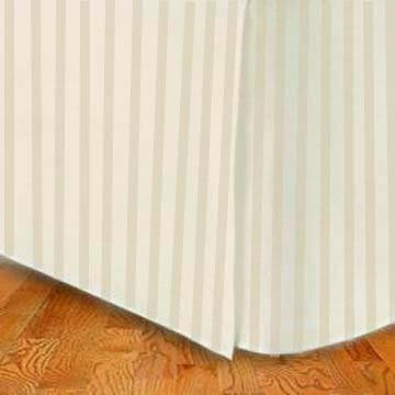 MARRIKAS (™) 1500 Class Microfiber TWIN EXTRA LONG Bed Skirt STRIPE TAN