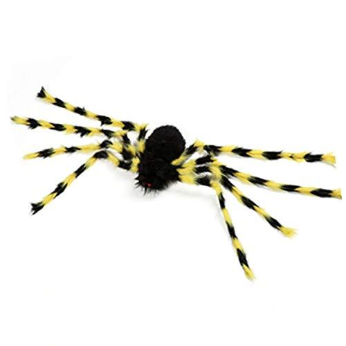 ハロウィンの小道具ぬいぐるみスパイダー、ハロウィンの小道具幽霊の家のバーのための偽の蜘蛛装飾的な供給シミュレーション怖いぬいぐるみスパイダートリッキーなおもちゃ