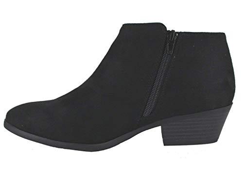 Bootie Block Soda Stacked Chunky Heel Isu Black Low Women's Western Ankle w gpWwOqpt