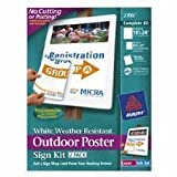Avery Otdor Pstr Sign Kit Yello 18 X 24 2 Signs Per Package