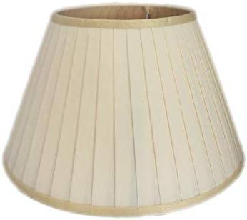 Paralume Plissettato per Lampada Abat jour Attacco E27 Plissè 25 cm Beige