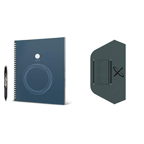 Rocketbook Wave Reusable Smart Notebook Standard Size with Pen Station by Rocketbook