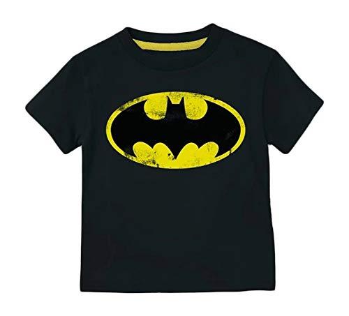 DC Comics Toddler Boys' Batman Bat Signal Short-Sleeve Tee Shirt (5T) Black