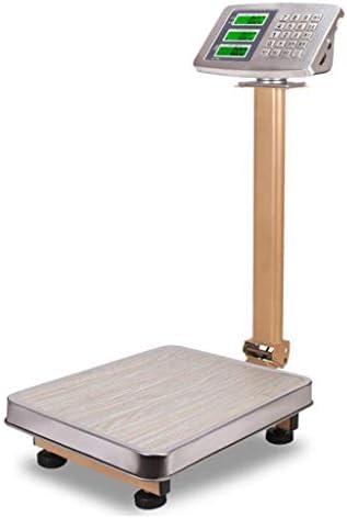 WCX Industriewaage Tragbar Rostfreier Stahl Plattform Digital Post Schwerlast Paket Waage Wiegen zum Familie Draussen Lnnen Tara Funktion (Farbe : B, größe : 150kg)