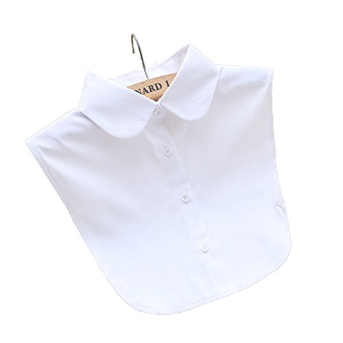 HZH Lady's Half-Shirt Detachable Fake Collar Round White Collars