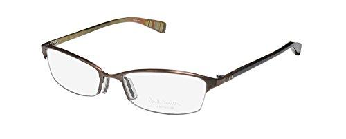 Paul Smith 186 Womens/Ladies Cat Eye Half-rim Eyeglasses/Spectacles (53-17-130, Brushed - Spectacles Half Rim