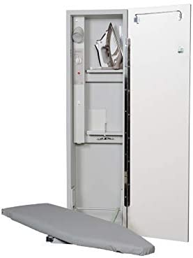 Iron A Way IAW-42 Economy Surface or Flush Mount Ironing Center Flat White Door