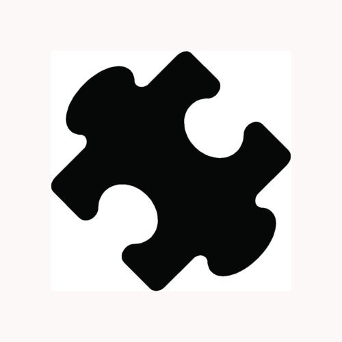 PUZZLE PIECE Sticker Fun Car Vinyl Window Decal Laptop Jigsaw Solve Mystery Icon - Die cut vinyl decal for windows, cars, trucks, tool boxes, laptops, MacBook - virtually any hard, smooth surface