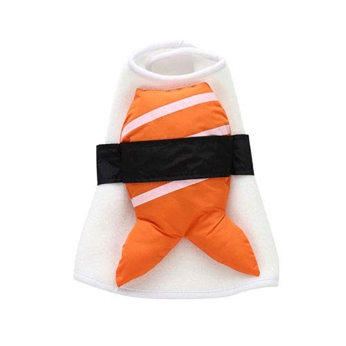 (WSJF Pet Sushi Costume,Creative Halloween Cute Pet Food Costume,Pet Dog Halloween Christmas Stylish Cosplay Clothes,S/L (Size :)