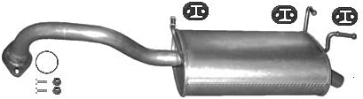 complete mounting kit fits PRIMERA 1.8 HATCHBACK, SALOON 116hp 2002-2007 ETS-EXHAUST 53083 Exhaust Rear Silencer