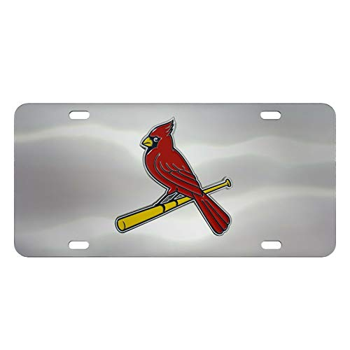 St. Louis Cardinals Silver Mirrored License Plate