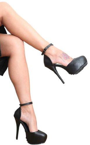 Col Kunstleder Erogance nero Donna Plateau Nero High Scarpe Tacco Heels wXxFBxdU
