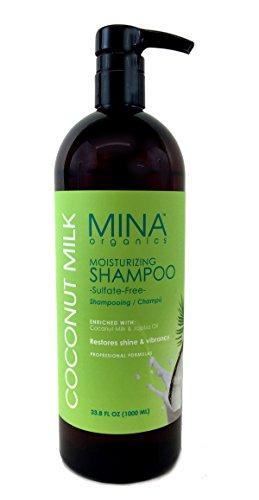 Coconut Milk Moisturizing Shampoo 33 ounce Liter (Paraben FREE) by Mina Organics. Factory (Hemp Gel Shampoo)