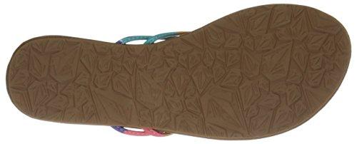 Volcom Forever 2 Sndl - Sandalias de material sintético para mujer multicolor - Mehrfarbig (Glow Light / Glw)