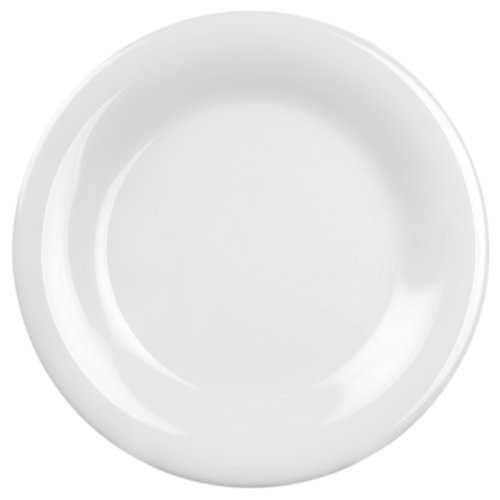 Plate 10.5 Melamine (Global Goodwill Coleur Series 12-Piece Wide Rim Plate, 10-1/2-Inch, Coleur White)