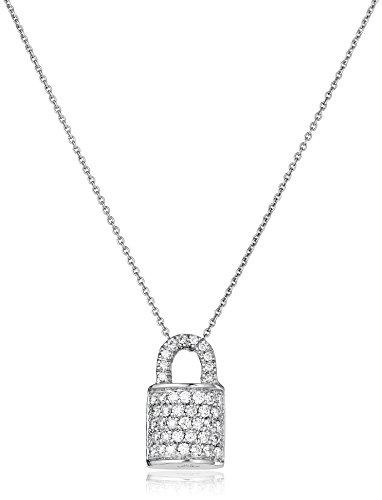 Roberto Coin Diamond Lock Pendant, White, One Size