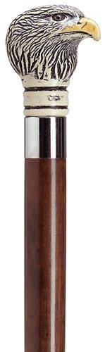 Canes - Majestic Eagle Walking Stick - Bald Eagle Head Cane - Walnut Shaft