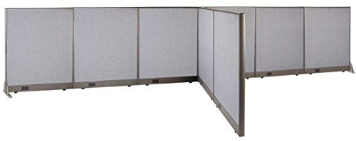GOF T-Shaped Freestanding Partition 72d x 216w x 48h / Office, Room Divider by GOF