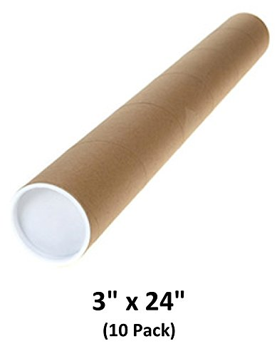 Mailing Tubes with Caps, 3 inch x 24 inch (10 Pack) | MagicWater Supply by MagicWater Supply