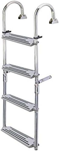 Klappbare Edelstahl-Leiter mit 180/°-B/ügeln NUOVA RADE