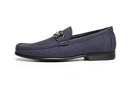 Infilare Fashion Guida numeri Uomo Blu Stile Scarpe mocassini Nuovo UK Da Designer Da Elegante Mocassini Casual Da con Tacco tqEnazH