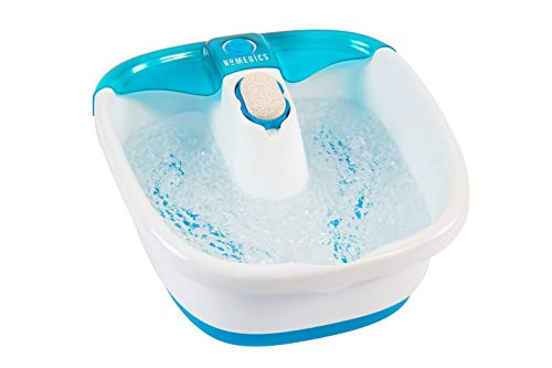 Bubble Mate Foot Spa, Toe Touch Controlled Foot Bath with Removable Pumice Stone by HoMedics