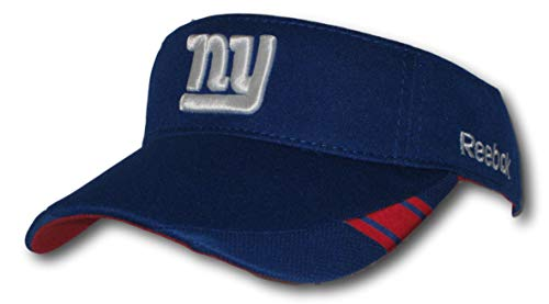 Fan Apparel New York Giants Coaches Adjustable Blue Visor Hat Cap Lid - New York Giants Blue Coaches