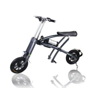 Portable Folding Electric Bicycle - Portable Electric Scooter with High Performance Brush-less Motor, up to 25 MPH Top Speed