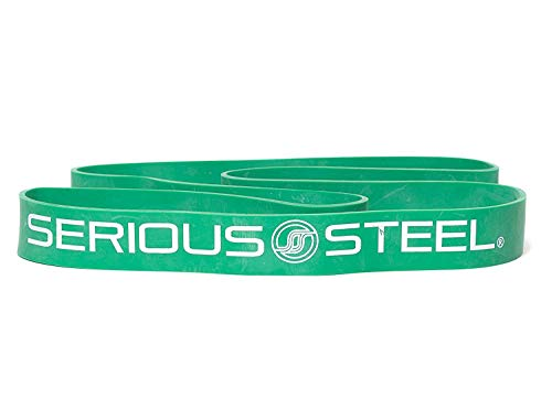 Serious Steel Fitness Green - #4 Average Pull-Up Assist & Stretching Resistance Band (Size: 1.75'' W, Resistance: 50-120lbs.) Pull-Up and Starter Band e-Guide Included by Serious Steel Fitness (Image #5)