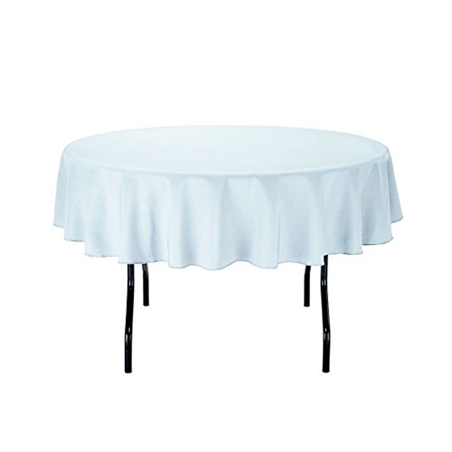Gee Di Moda Tablecloth – Round Tablecloths for Circular Table Cover in Washable Polyester – Great for Buffet Table, Parties, Holiday Dinner & More