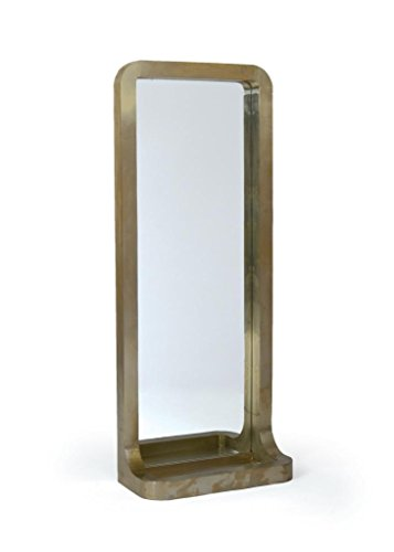 """Contemporary Modern Mirror, Beige Wood - Dimensions: 23.75"""" W x 59"""" H Product Material: Wood and Mirror Glass Luxury Contemporary Style and design - mirrors-bedroom-decor, bedroom-decor, bedroom - 31aBUepMb8L -"""