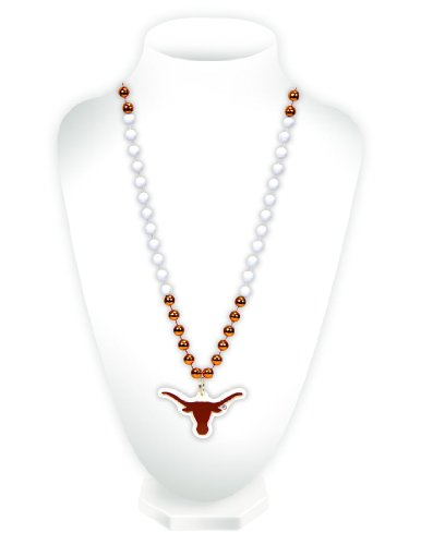 NCAA Texas Longhorns Team Logo Mardi Gras Style Beads