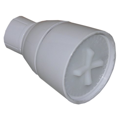 LASCO 08-2241 Shower Head with Adjustable Spray Plastic Body, White Plastic