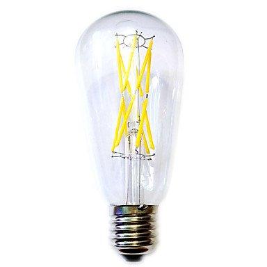 GDS 12W E26/E27 Bombillas de Filamento LED ST64 12 COB 1100 lm Blanco Cálido Impermeable AC 100-240 V 1 pieza: Amazon.es: Iluminación