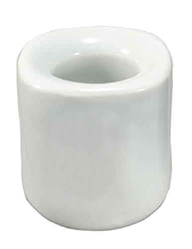 AzureGreen White Ceramic Chime Candle Holder (Holder Candle Mini)