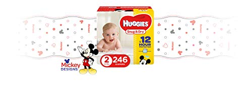 HUGGIES Snug & Dry Diapers, Size 2, 246Count (Packaging May Vary)