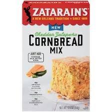 Zatarain's Cheddar Jalapeno Cornbread Mix 12 oz (Pack of ()