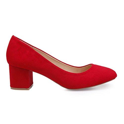 Sintético Modeuse De 45200 Rojo Mujer Material Vestir La Zapatos RHqAdwYY