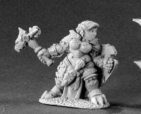 Nalila Goldhammer Female Dwarf Paladin Miniature Dark Heaven Legends by Reaper Minatures (Dark Paladin Miniatures)