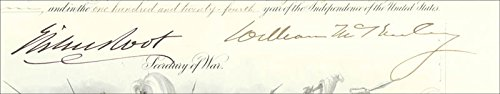 - President William Mckinley - Military Appointment Signed 01/11/1900 with co-signers
