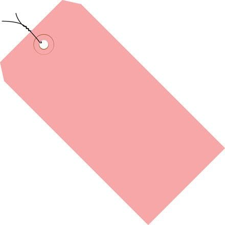 """#2 Wired Tag Pack 3-1/4"""" x 1-5/8"""", 1000 Pack, Pink"""