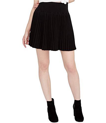 RACHEL Rachel Roy Womens Pleated Textured Mini Skirt Black M