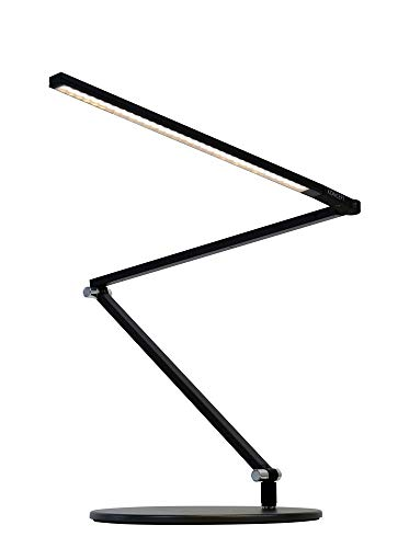 (Koncept AR3200-WD-MBK-DSK Z-Bar Slim - LED Desk Lamp with Base, Warm Light/Metallic Black Finish)