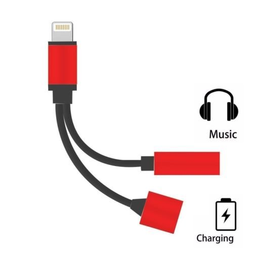 Lightning to 3.5mm Headphone Jack 2 in1 Cable Adapter Charger for iPhone 7 Plus
