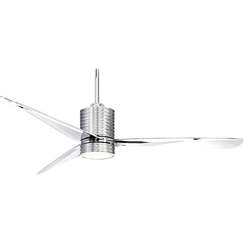 Mojave Finish Light - Minka Aire F829L-CH/CH Ceiling Fan in Chrome with Chrome Finish