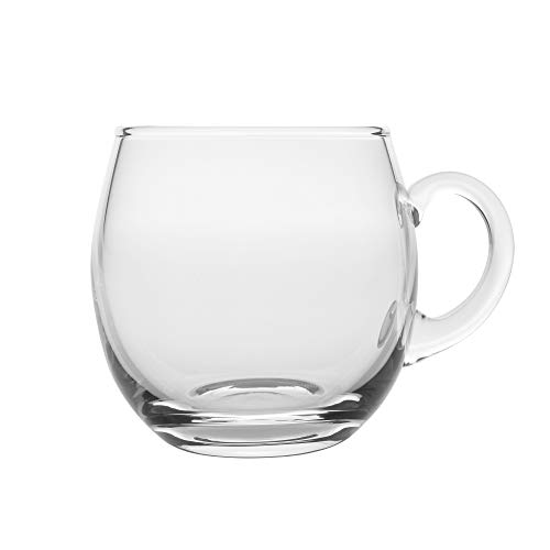 (Barski - European Quality - Handmade Glass - Set of 4 - Punch Cups With Handle - Each Cup is 12 oz. - Glasses Are Made Made in Europe)