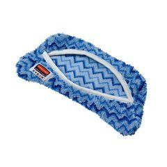 Rubbermaid Commercial Products Q891BLU Flexi Frame Microfiber Damp Mop Covers44; Blue - 8 x 8 in.