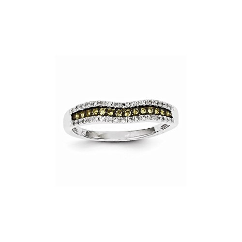 (14K White Gold White & Champagne Diamond Channel Ring, Best Quality Free Gift Box)